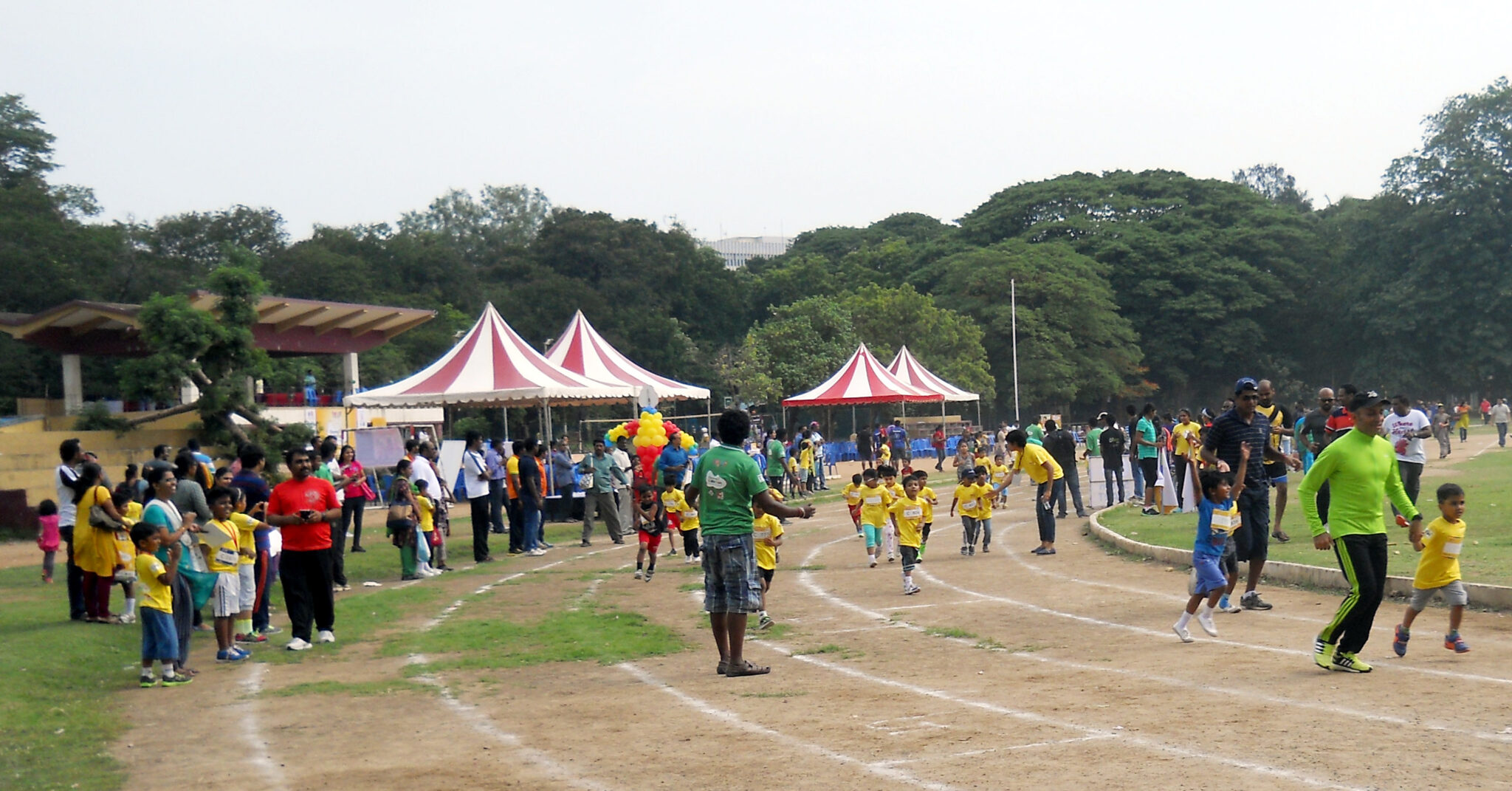 Kids ran for a cause