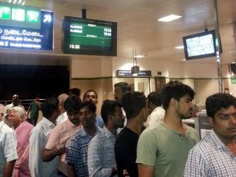 At the ticket counter. Photo: Sreesneha Sudarshan