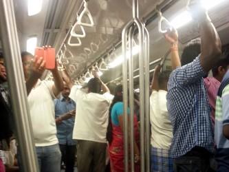 Selfie time inside the train. Photo: Sreesneha Sudarshan