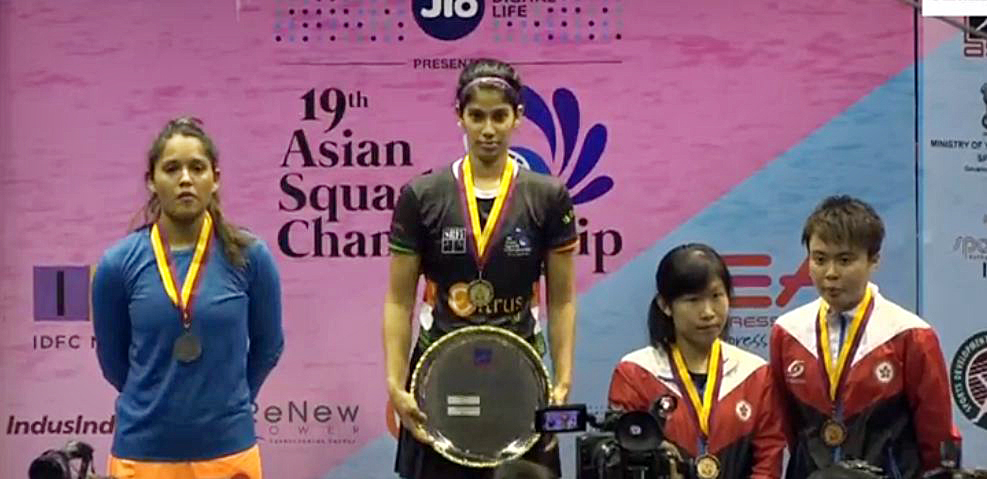 Joshna Chinnappawins Asian Squash 2017