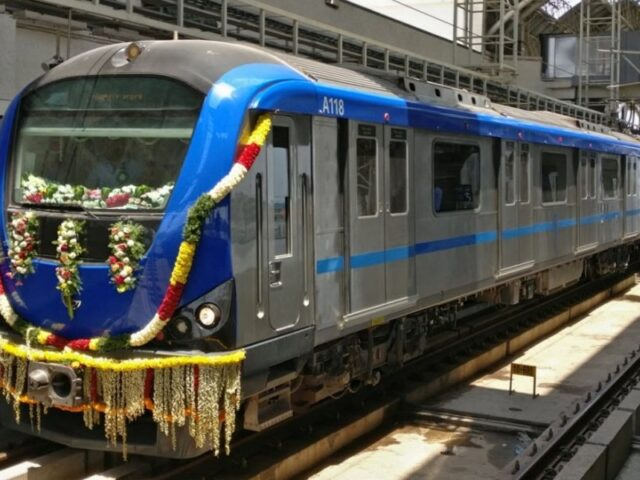 Now travel by metro from Washermanpet to Airport