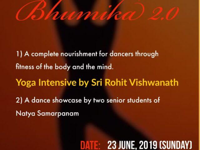 Bhumika 2.0 – Yoga intensive for seekers of Natyam – June 23, 2019