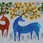 Gond Art deer
