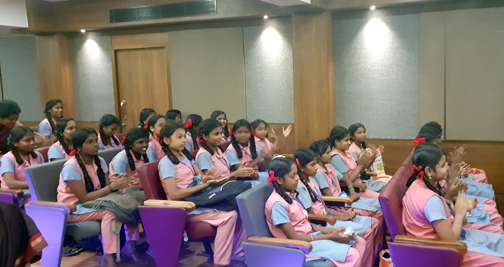 Students at Shreya Devnath Concert