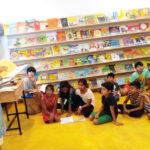 Bal Sahitya Puraskar awardee Devika Cariappa interacts with children