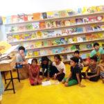 Bal Sahitya Puraskar awardee Devika Cariappa interacts with children