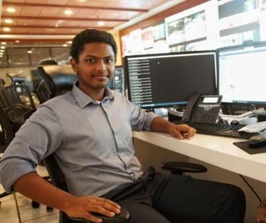 Shaamil Karim at work