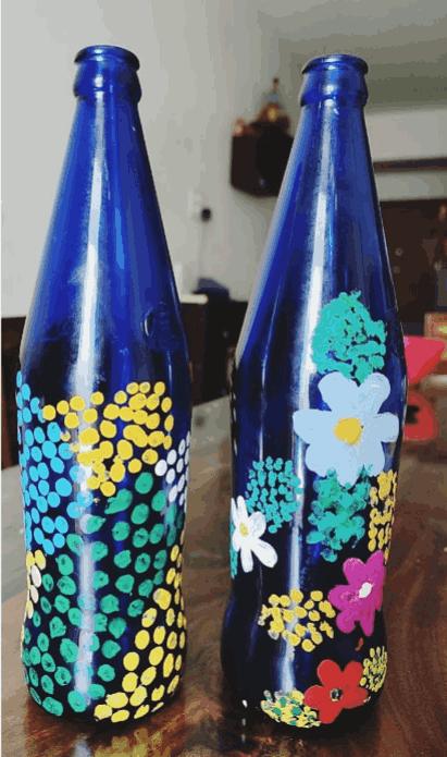 Ahana Rhea Berkin painted bottles