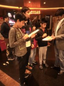 Aditya Mukarji in waste awareness meet at a cinema