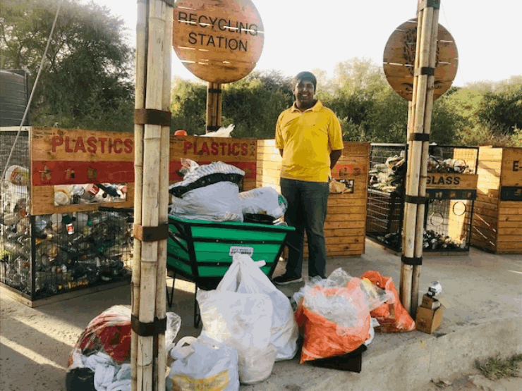 Aditya's waste seggregation station