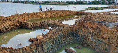 Desilting work at Chitlapakkam lake