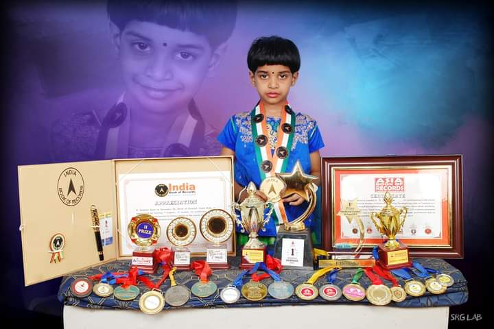 deeksha with records and medals