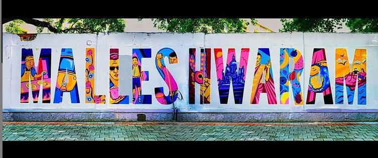 Wall art Malleshwaram by Saksham Verma