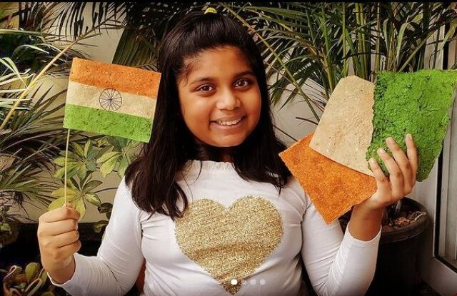 Flag using vegetable waste paper