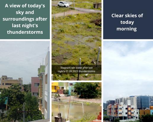 Morning sky in Chennai